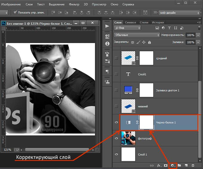 как работать со слоями в фотошоп