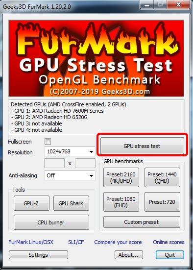 furmark-запуск-теста